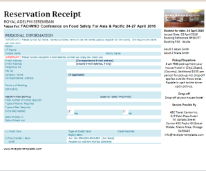 Reservation Receipts