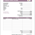 Wedding Services Receipt