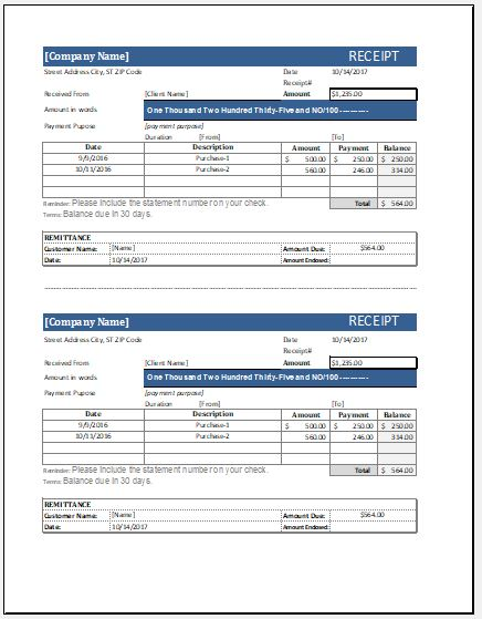 cash receipt templates for ms word amp excel receipt templates