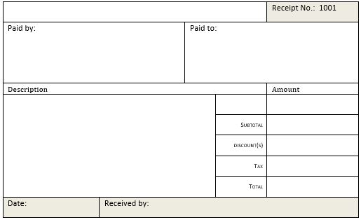 cash receipt templates for ms word excel receipt templates